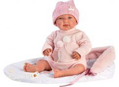Llorens 84452 New born realistická panenka miminko se zvuky a měkkým látkový tělem 44 cm