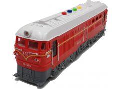 Lokomotiva se zvukem a světlem červená 35 cm