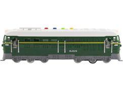 Lokomotiva se zvukem a světlem zelená 35 cm