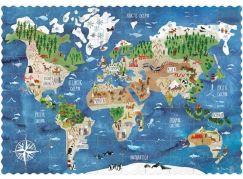 Londji Kapesní puzzle Kolem světa - 100 dílků