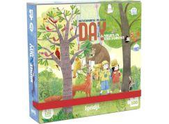 Londji Oboustranné puzzle Den a noc v lese 2 x 50 dílků
