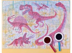 Londji Velké puzzle Svět dinosaurů 200 dílků