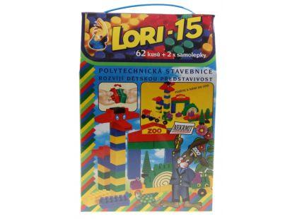 Lori 15 stavebnice - 62 dílů