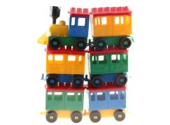 Lori 8 stavebnice - Lokomotiva s 5 vagónky