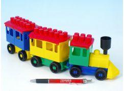 LORI lokomotiva + 2 vagónky