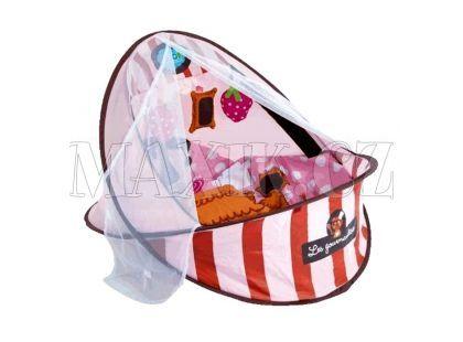 Ludi Cestovní postýlka - deka s hrazdou růžová