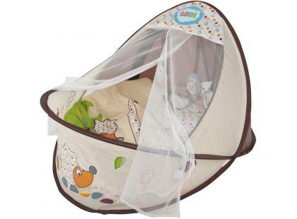 Ludi Cestovní postýlka - Hnízdo pro miminko Nature