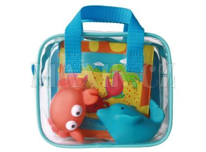 Ludi Hračky a kniha do koupele - Modrá