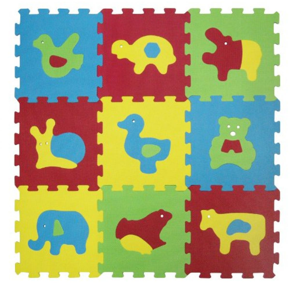 Ludi Puzzle pěnové Basic zvířátka 84x84cm