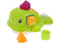 Ludi Stříkací velryba do koupele - Zelená