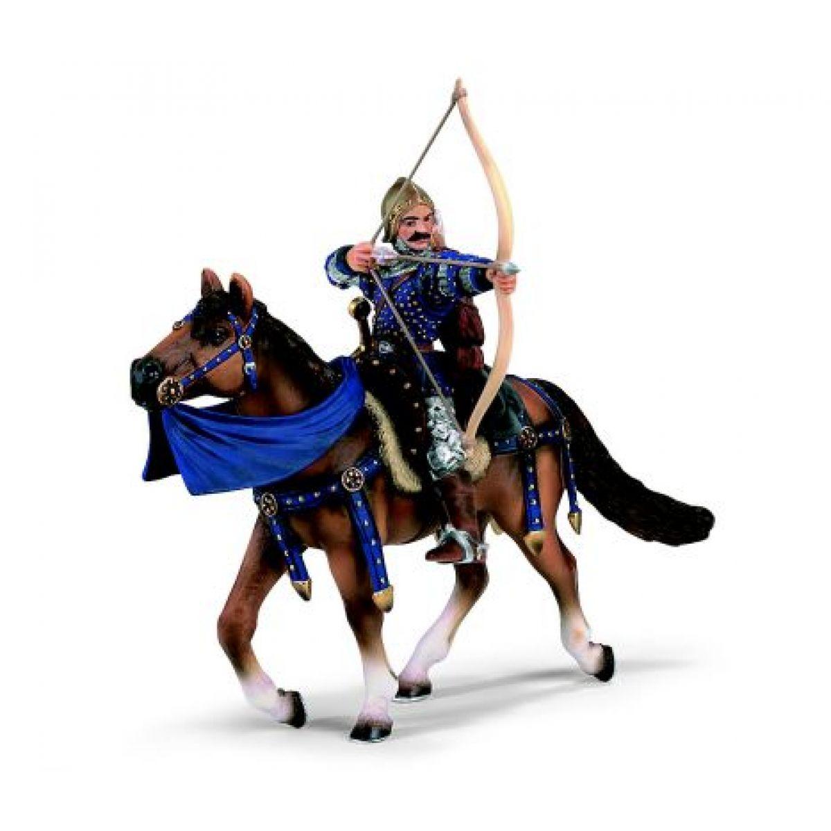 Lučišník na koni - modrý Schleich