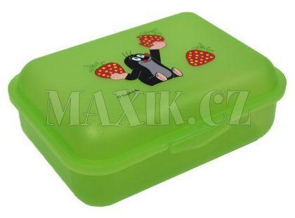 MÚ Brno Krtek Svačinový box jahody zelený