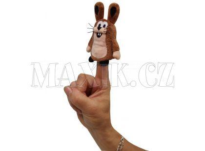 MÚ Brno Zajíc 8cm prstový maňásek