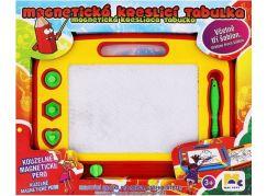 Mac Toys Magnetická tabulka kreslící červeno-žlutá