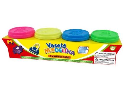 Mac Toys Modelína Neonové barvy 4x140g