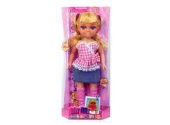 Mac Toys Panenka a módní doplňky Růžová kostkovaná halenka