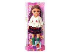 Mac Toys Panenka s módními doplňky Kostkovaná sukně
