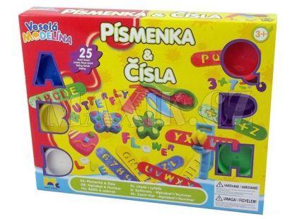 Mac Toys Veselá modelína Písmenka a čísla
