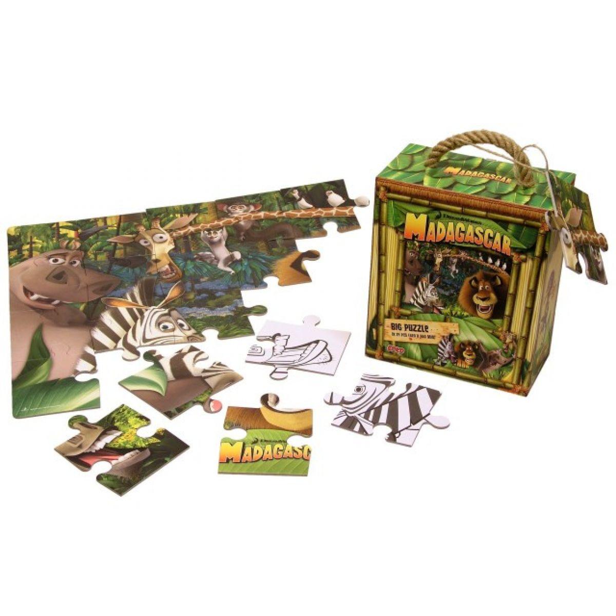 Madagascar Puzzle BIG-podlahové 24 d. Efko
