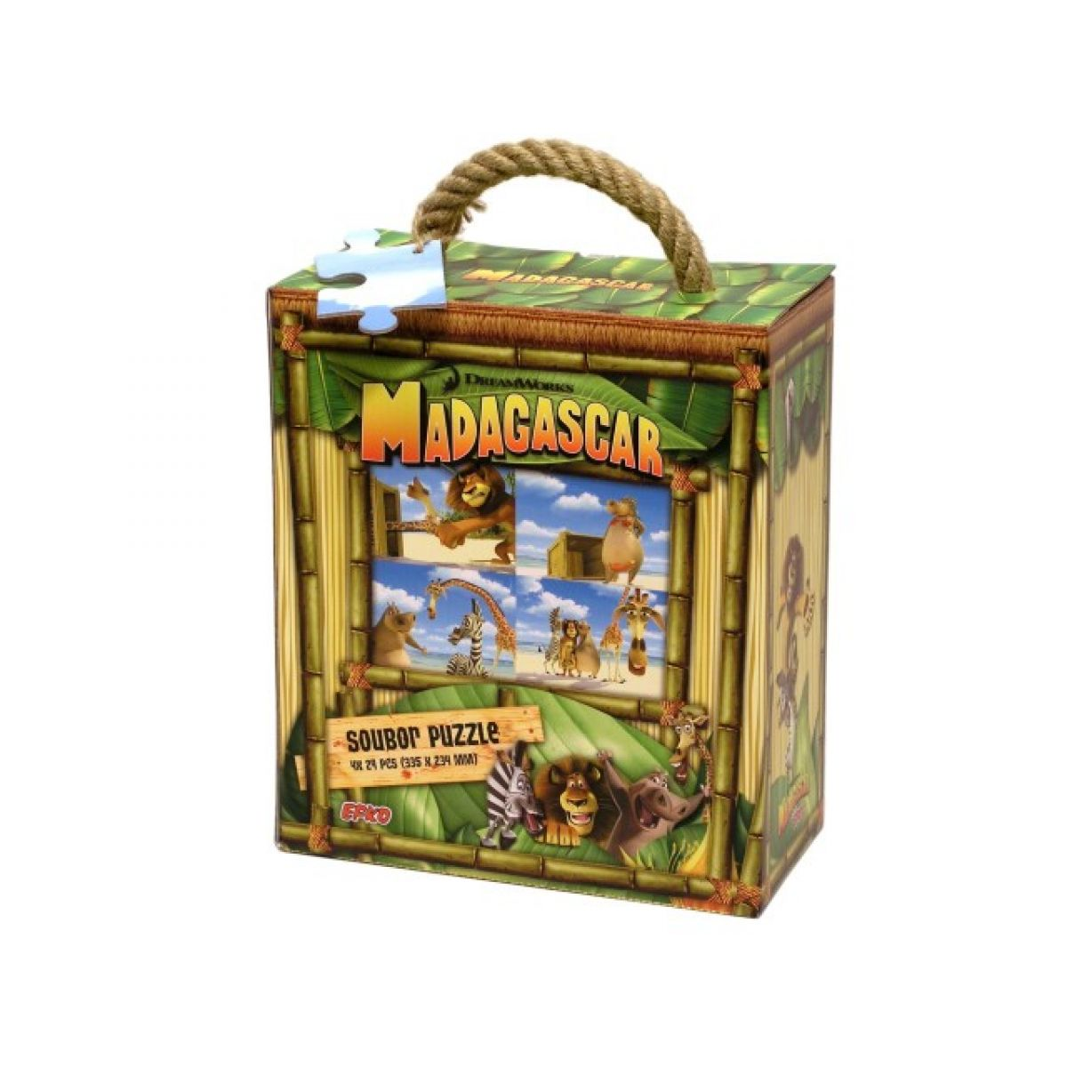 Madagascar Puzzle soubor 4x24d Efko