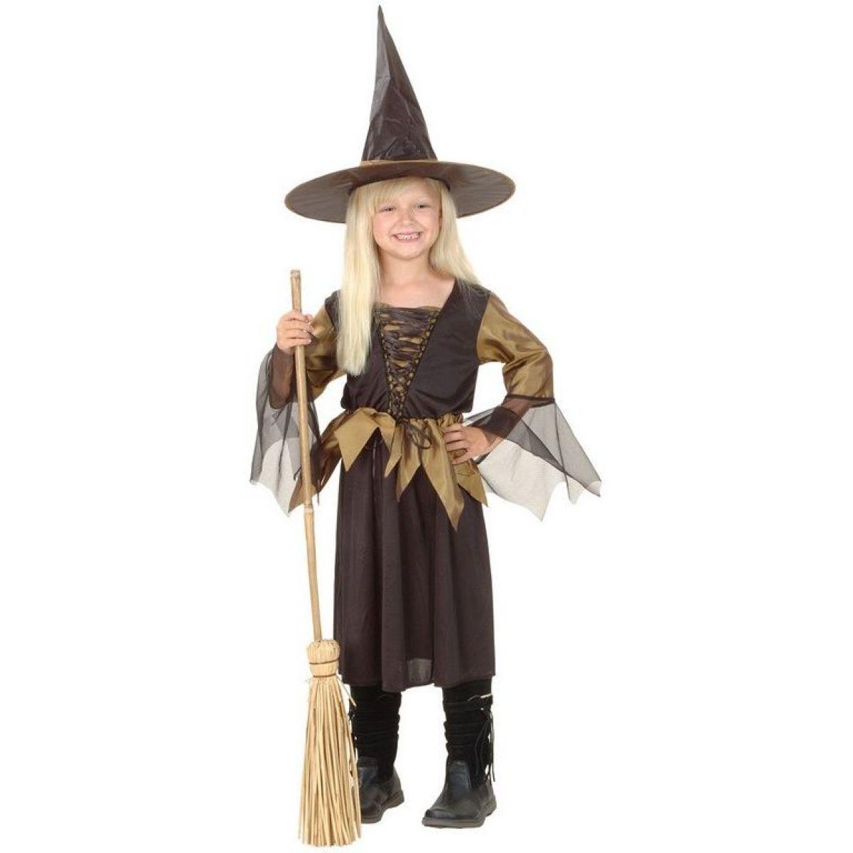 Made Dětský karnevalový kostým Čarodějnice 130-140 cm