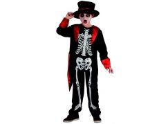 Made Dětský karnevalový kostým kostra chlapec, 120-130 cm