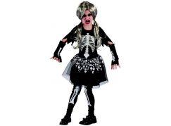 Made Dětský karnevalový kostým kostra dívka 120-130 cm