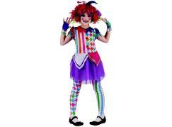 Made Dětský karnevalový kostým šašek dívka 120-130 cm