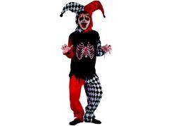 Made Dětský karnevalový kostým šašek kostra, 120-130 cm