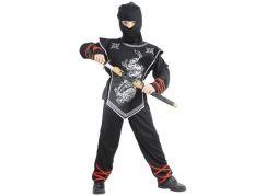 Made Dětský karnevalový kostým Stříbrný ninja 120 -130 cm