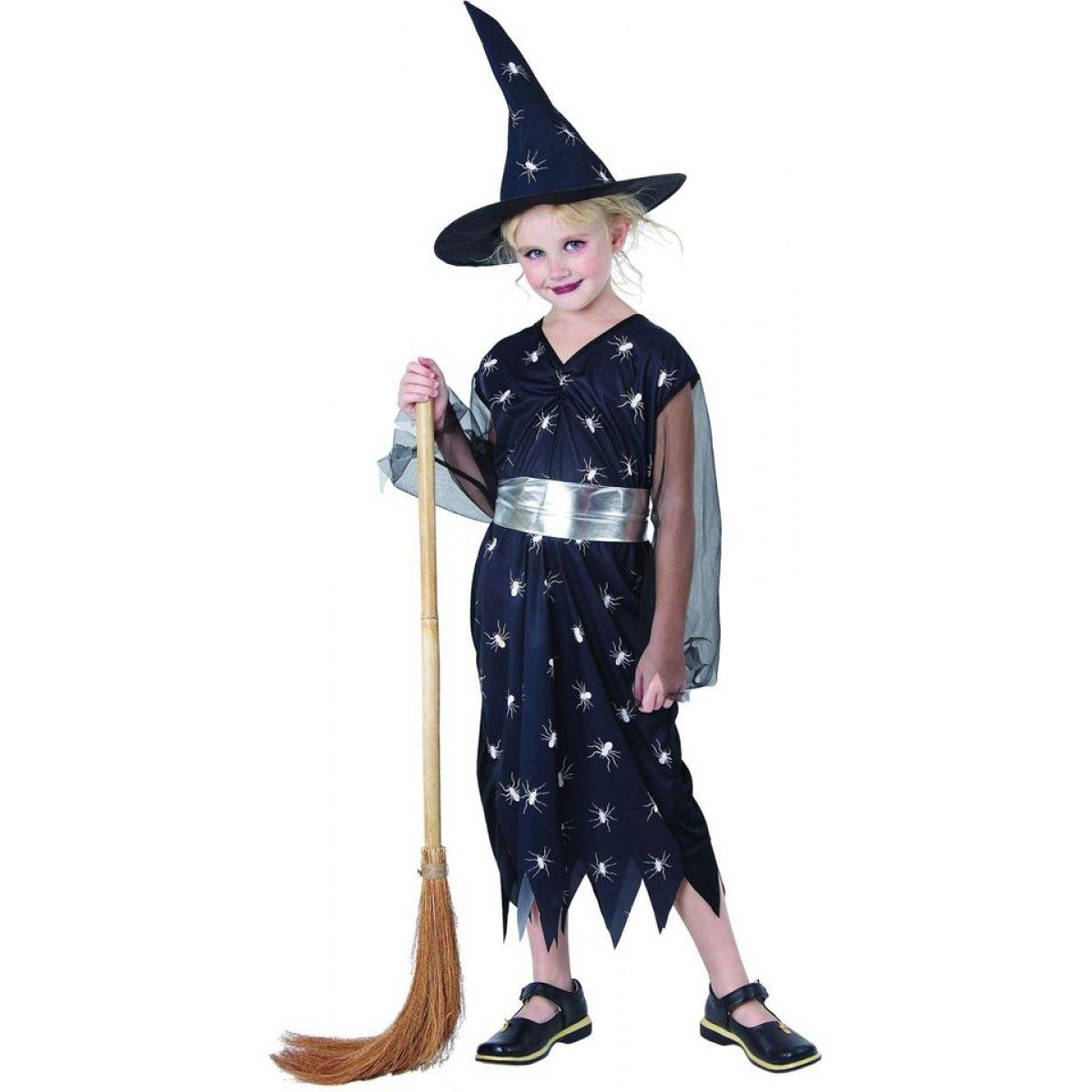 Made Dětský kostým Čarodějka pavouk 120-130cm