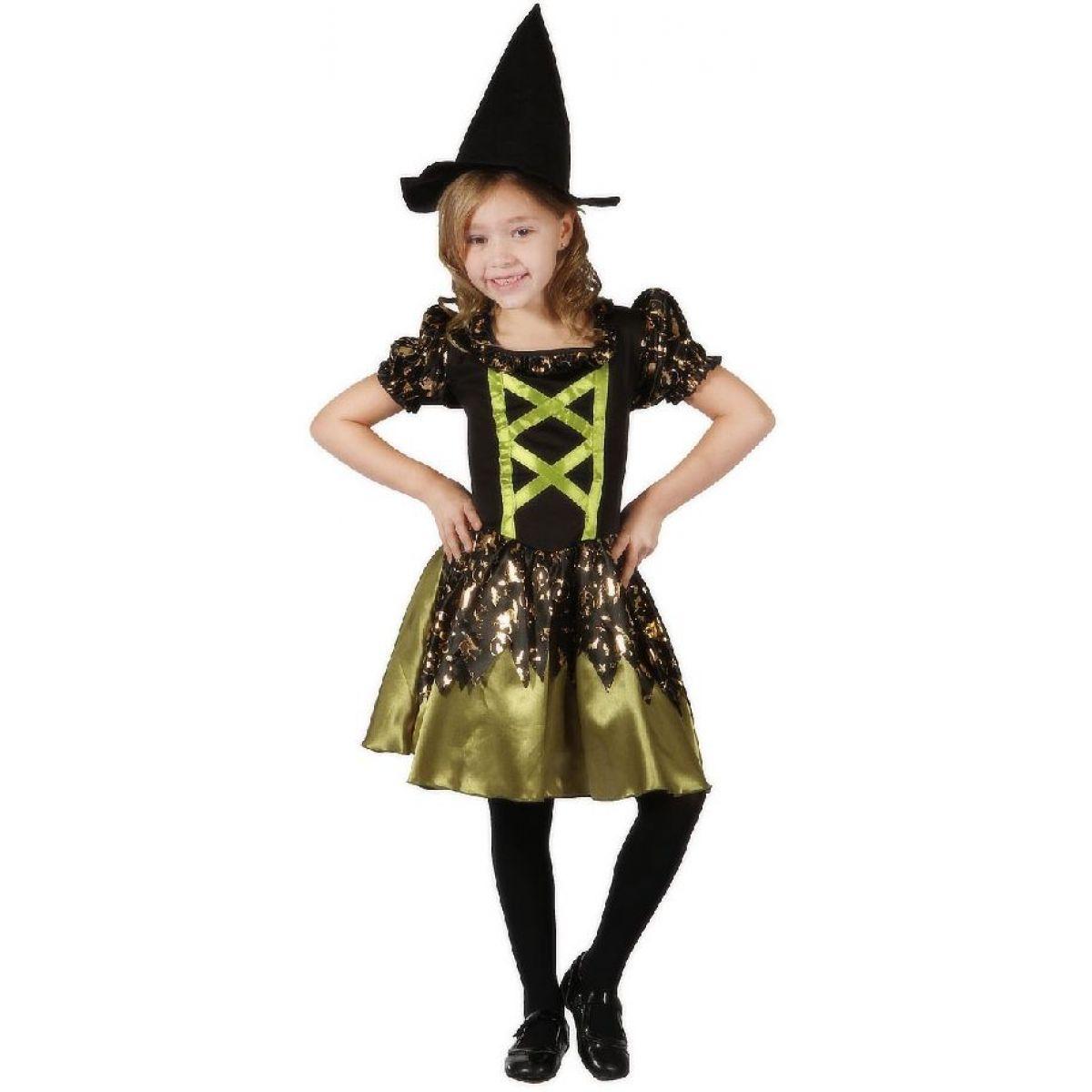 Made Dětský kostým Čarodějka zelená 110-120cm