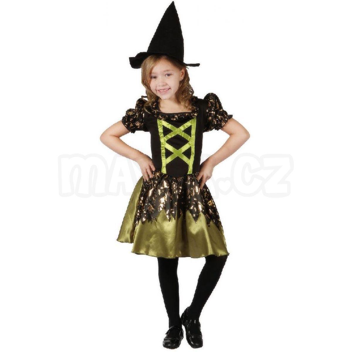 59056ea091f9 Made Dětský kostým Čarodějka zelená 120-130 cm