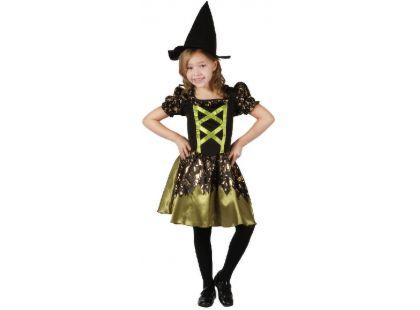 Made Dětský kostým Čarodějka zelená 120-130 cm