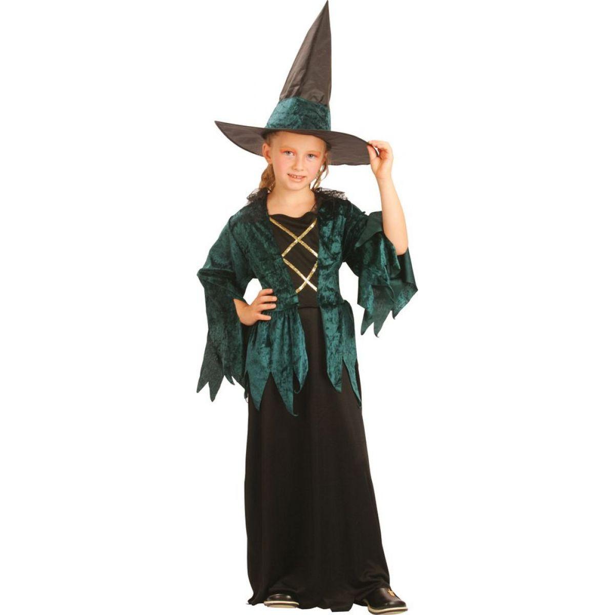 Made Dětský kostým Čarodějnice vel. M 120-130 cm