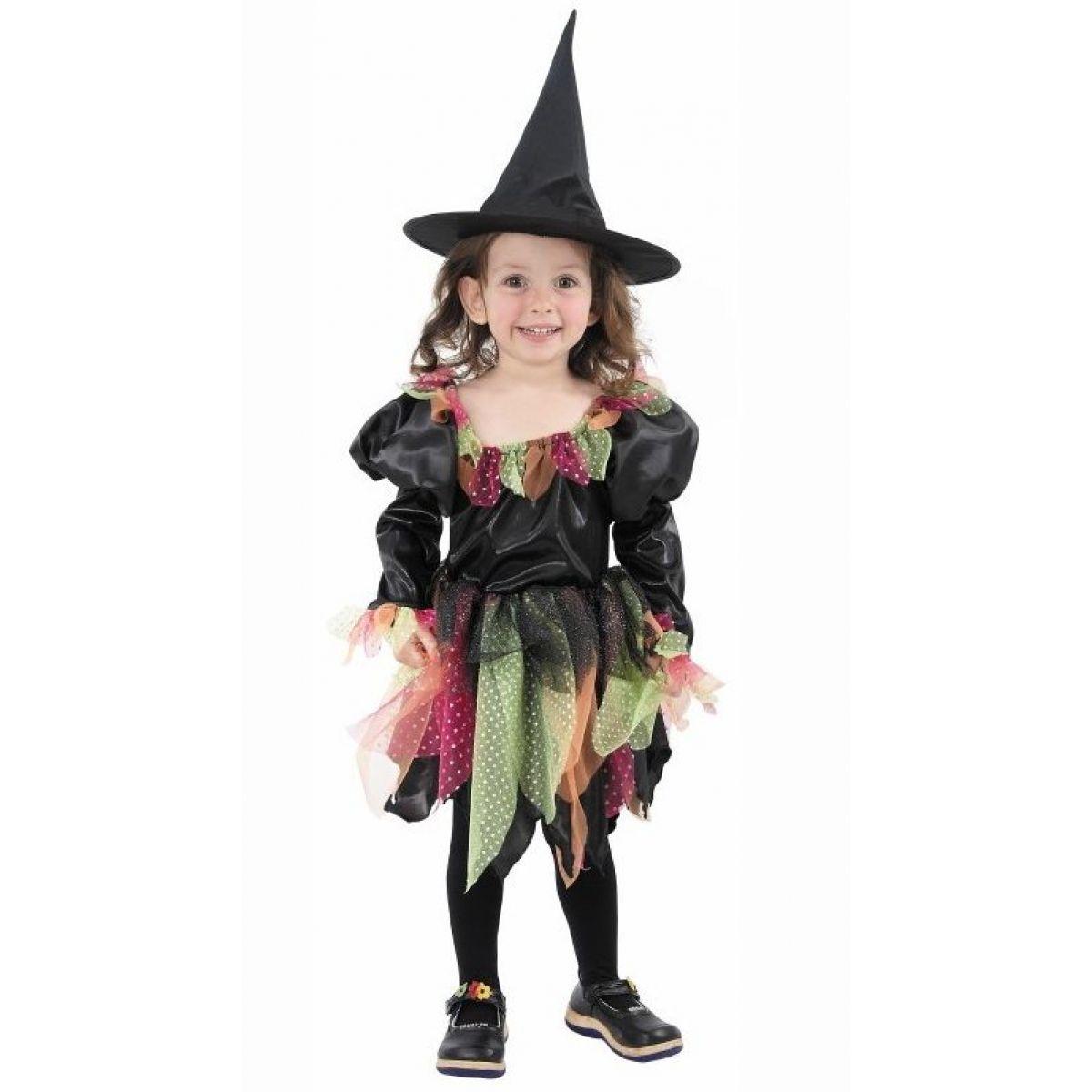 MaDe Dětský kostým duhová čarodějka  92 -104 cm