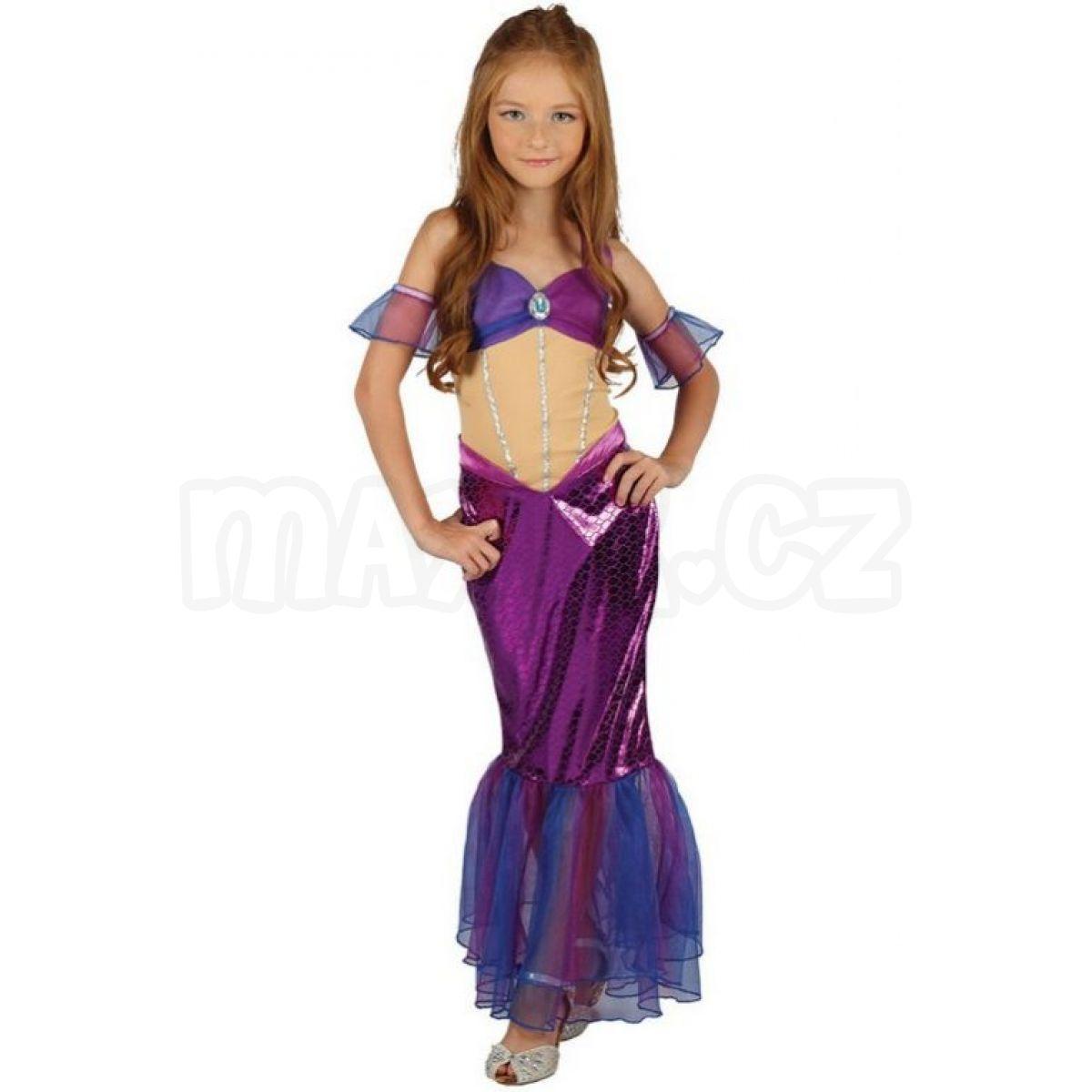 e083a79447dd Made Dětský kostým Mořská panna fialová 120-130cm