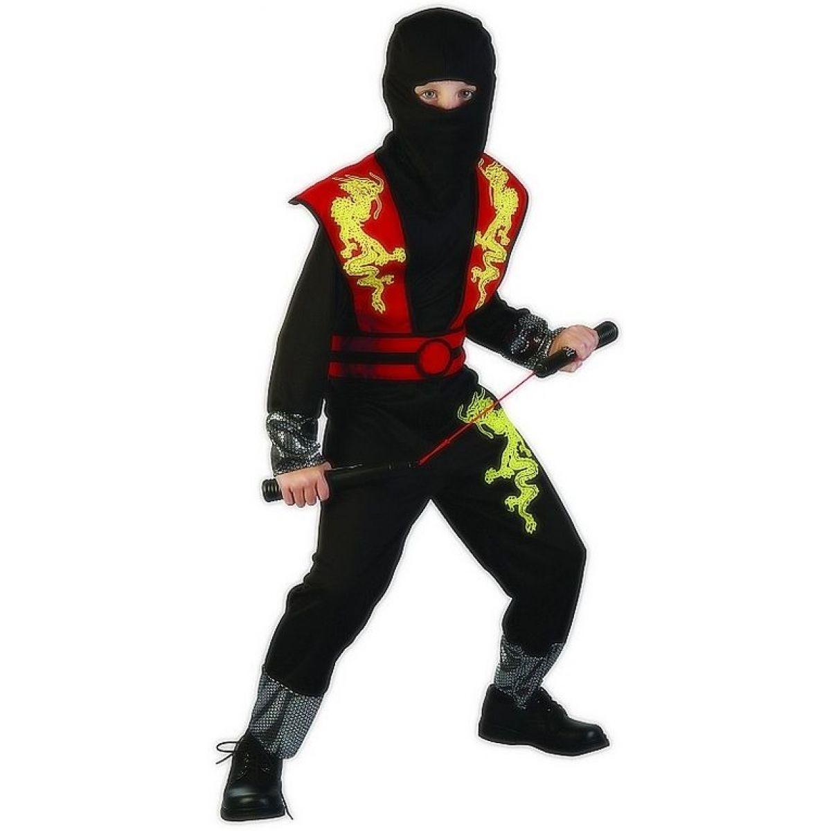 Made Dětský kostým Ninja červený 120-130cm