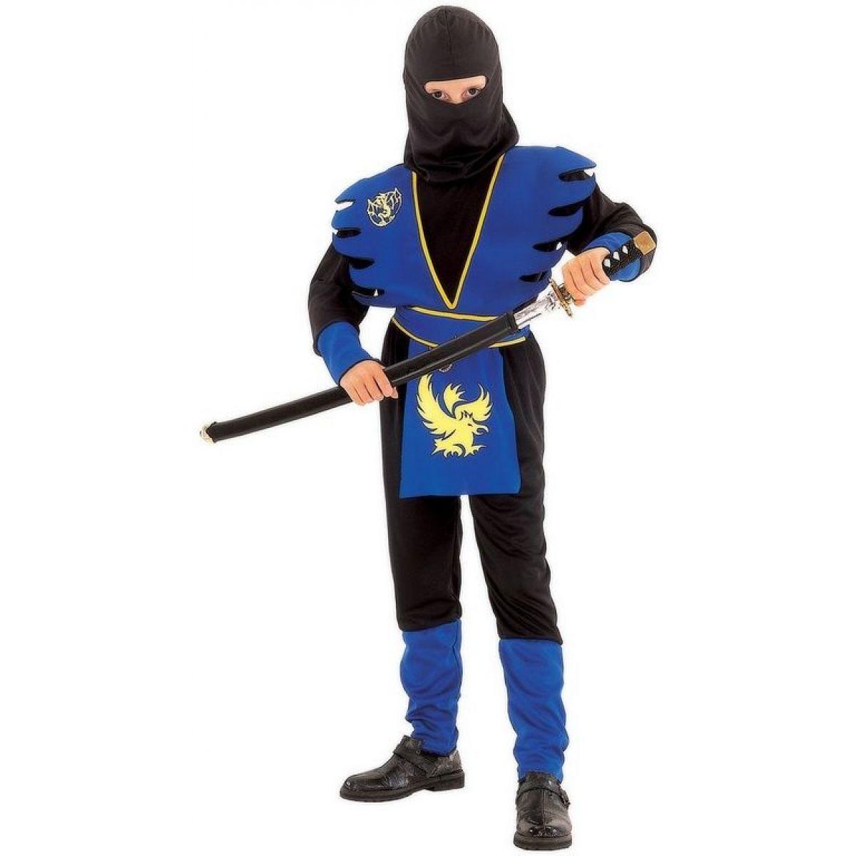 Made Dětský kostým Ninja modrý 120-130cm