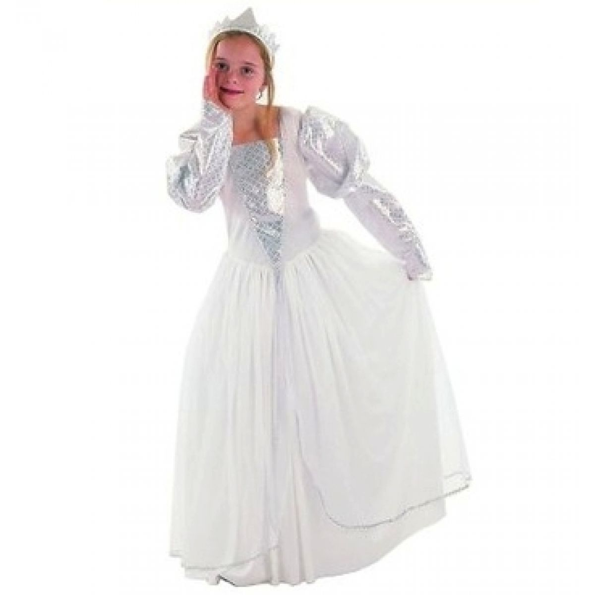 Made Dětský kostým Princezna bílá vel. M