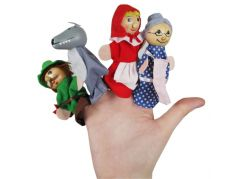 Made Dřevěné pohádkové figurky na prst - Karkulka