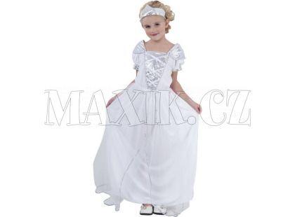Made Dětský kostým Princezna bílá vel. S