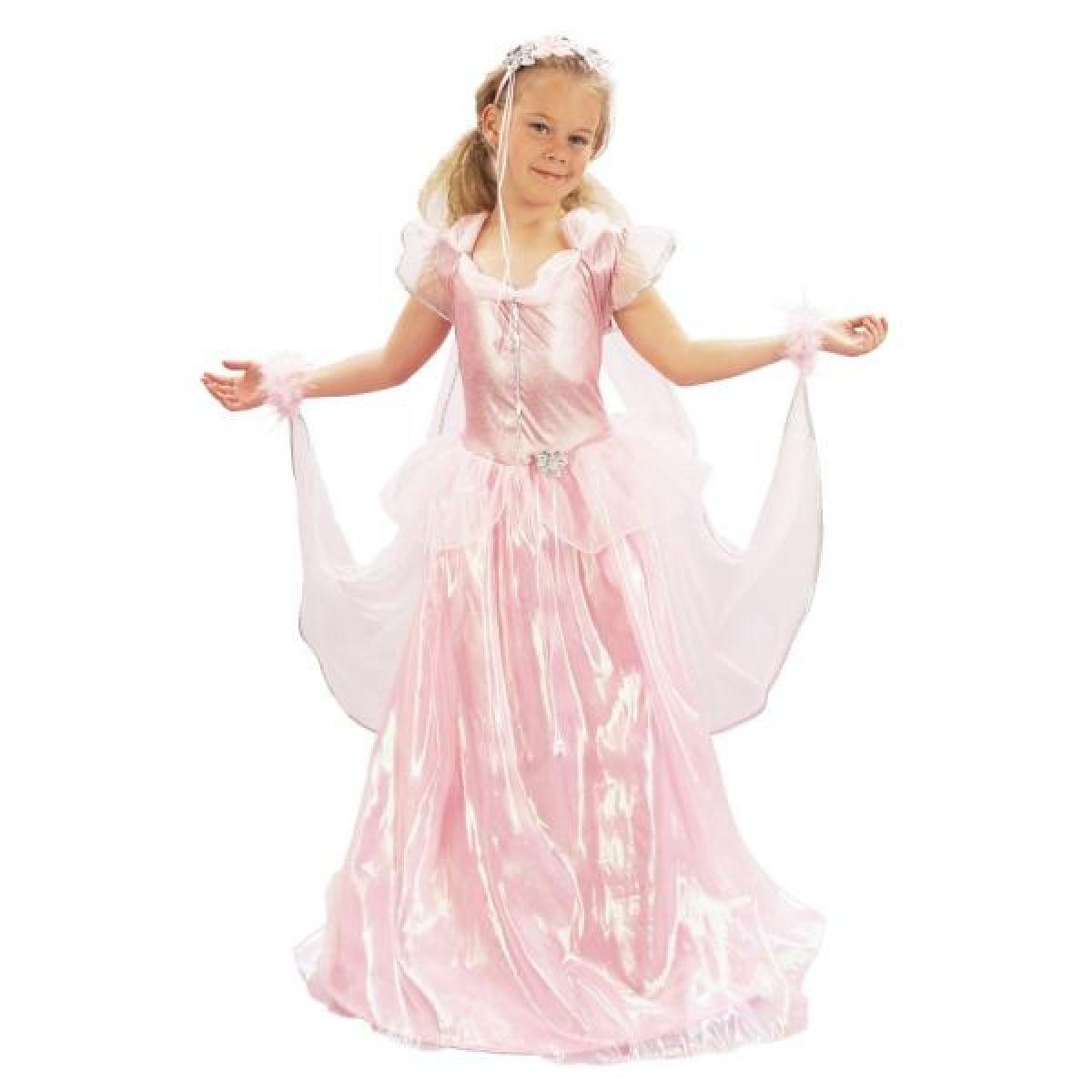 Made Dětský kostým Princezna růžová vel. M