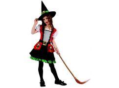 Made Karnevalový kostým čarodějka pro děti 120-130 cm