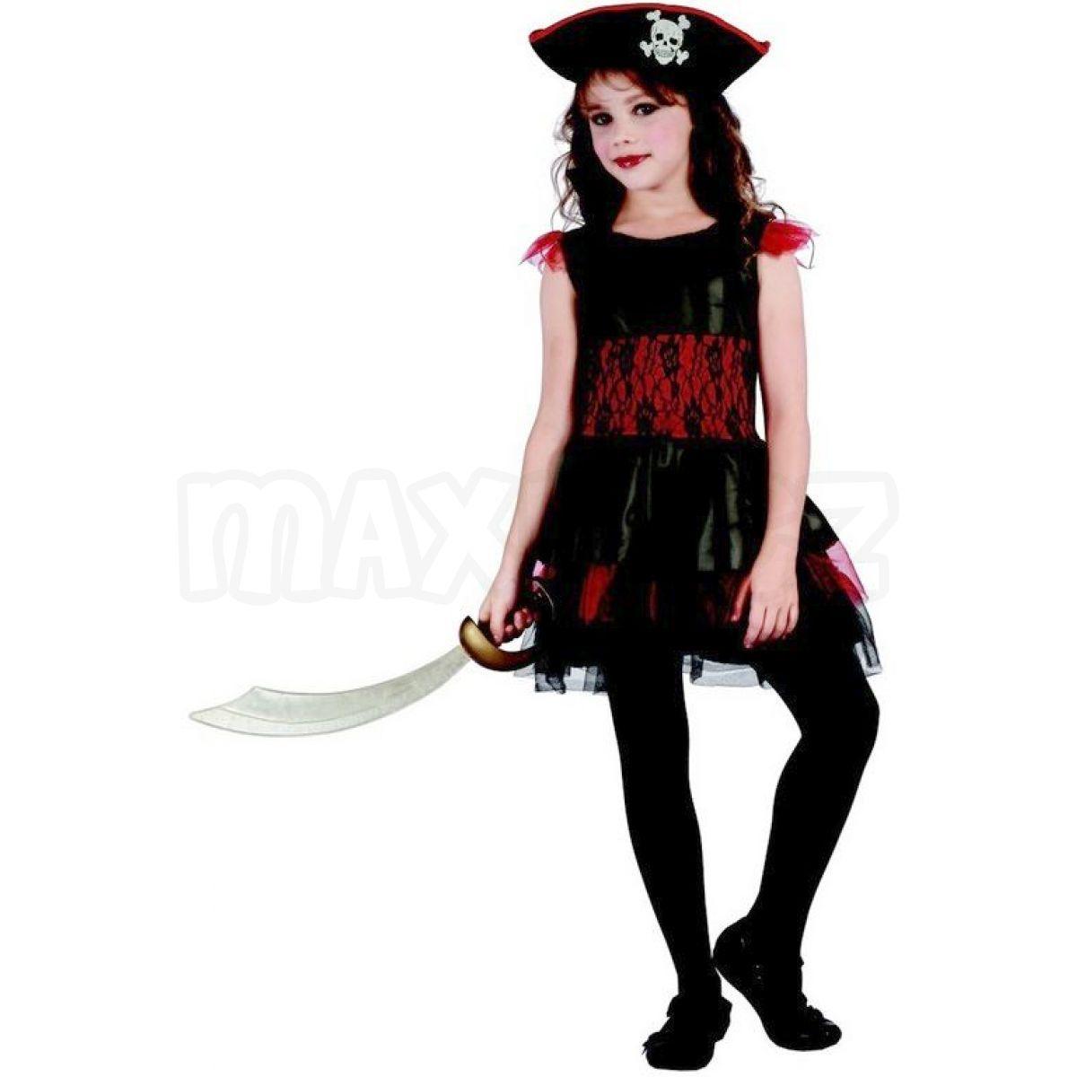 0375fd0cc Made Karnevalový kostým pirátka pro děti 120-130 cm | Maxíkovy hračky