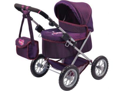 MaDe Kočárek Trendy pro panenky - fialový