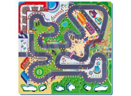 Made Pěnové puzzle Autodráha 9ks