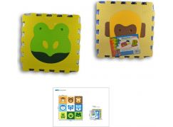 MaDe Puzzle pěnové - Zvířátka 9 ks 42 x 42cm