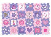 Made Puzzle pěnové princezny a čísla 24 ks