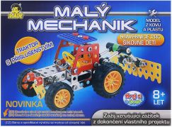 MaDe Stavebnice Malý mechanik Traktor s nástrojem 119 dílků